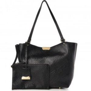 Auth.BURBERRY Canterbury Elephant Embossed Tote